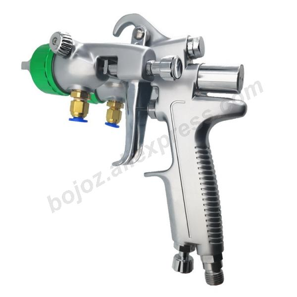 Image 5 - Double headed  1.3mm  spray gun pressure /siphon feed spray paint  chrome painting dual head Air pneumatic pressure sprayer-in Spray Guns from Tools on