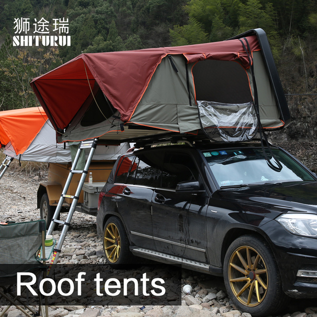 Car roof tents hydraulic speed factory outlet multi-color selection with lock support high speed 120 yards SUV off-road vehicle