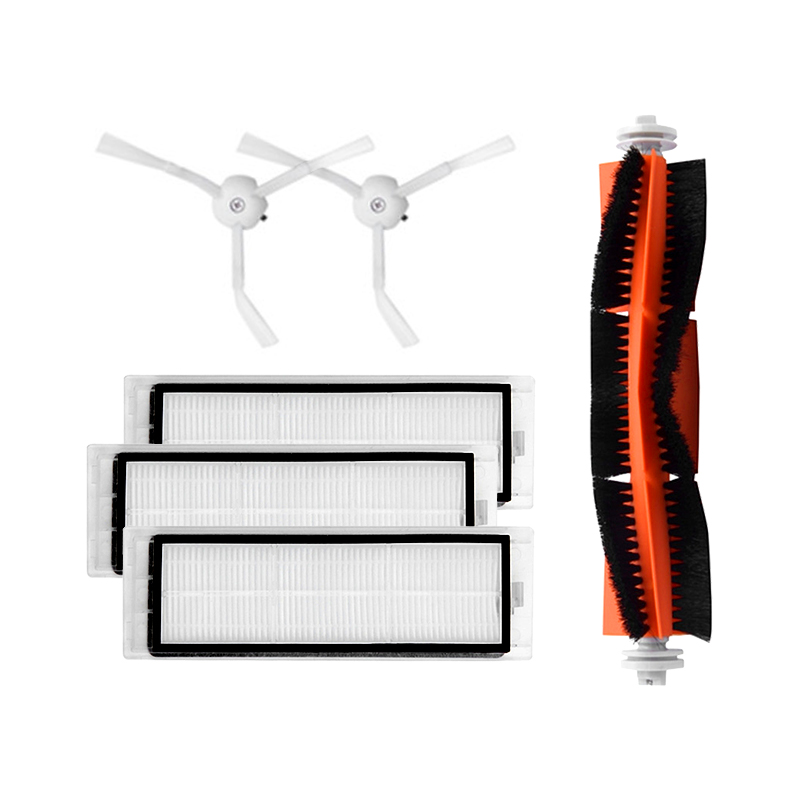 Replacement 3 PCS hepa filter+2 PCS side brush+1 PCS main brush parts accessories Suitable for Xiaomi Mi Robot Vacuum Cleaner 3pcs hepa filter 2pcs side brush 1pcs main brush suitable for xiaomi mi robot vacuum cleaner parts accessories