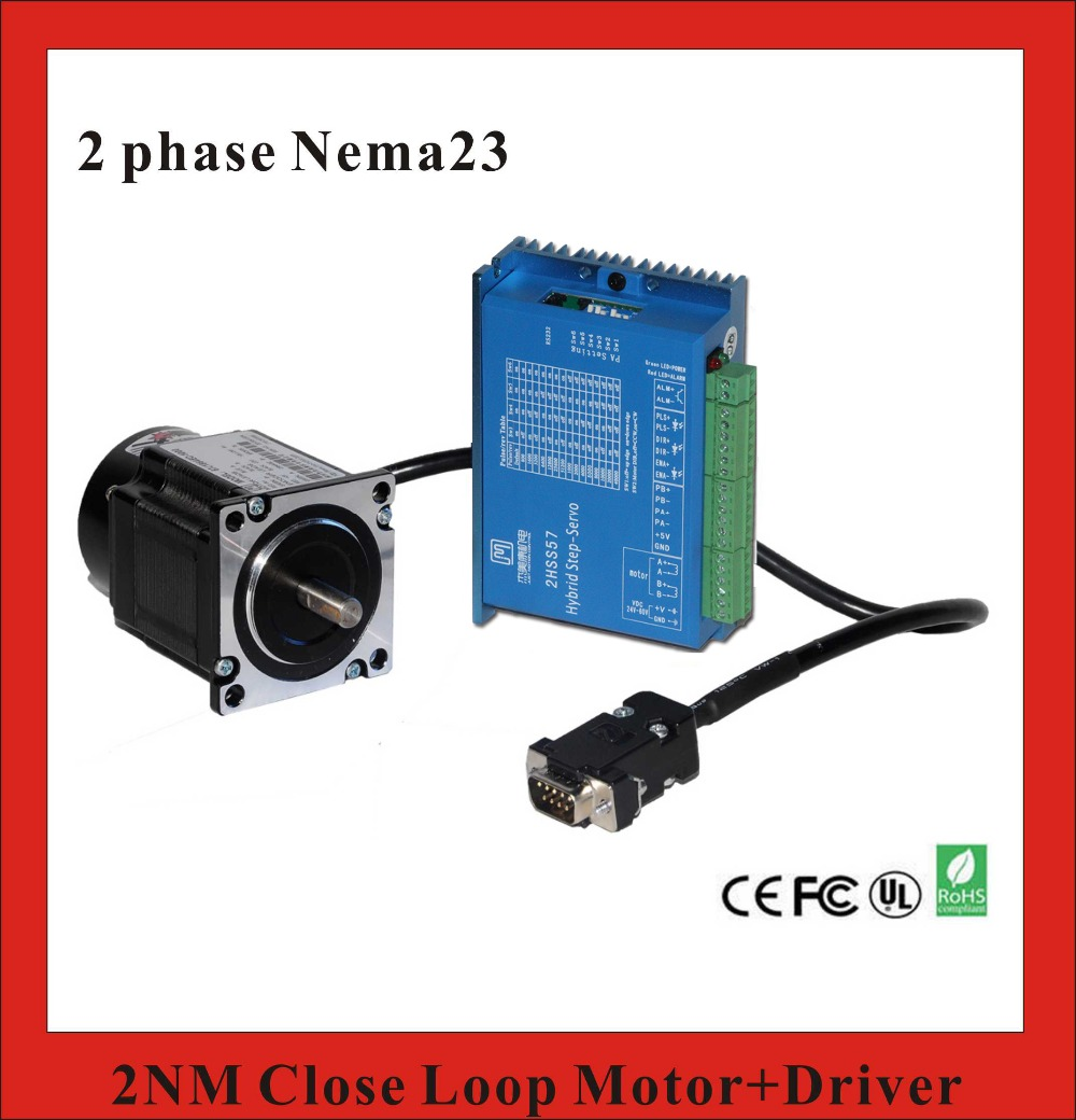 2 Phase NEMA23 1NM Closed Loop Stepper Servo Motor Driver Kit for CNC Machine Screw Machine guess by marciano повседневные брюки