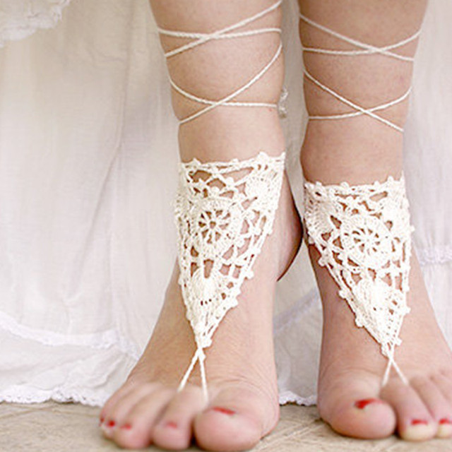Women anklets beach wedding shoes barefoot crochet sandals beach women anklets beach wedding shoes barefoot crochet sandals beach wedding crochet beach sandles junglespirit Images