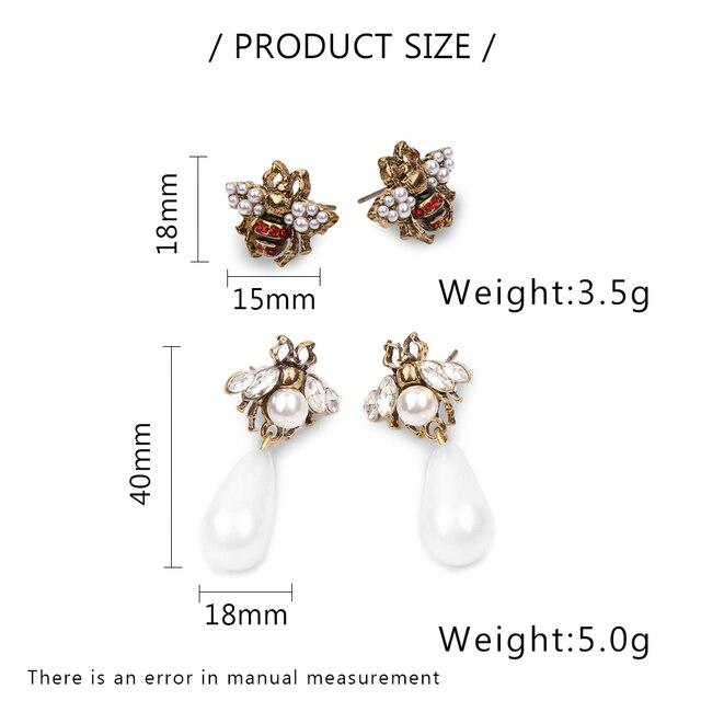 Jardme Epoca Perla di Cristallo Ape set di Gioielli Orecchini per le Donne 2018 NUOVO Disegno Originale Del Partito Dell'orecchino Accessori di Abbigliamento