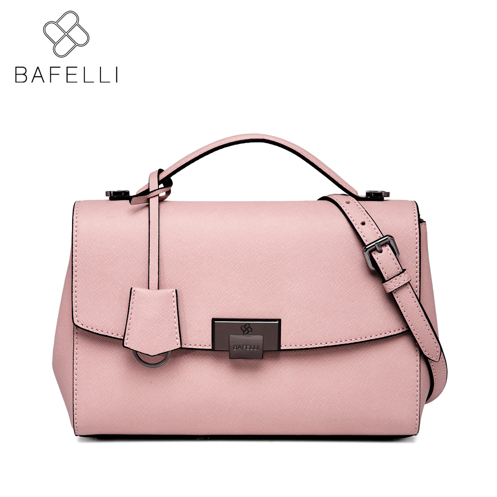 BAFELLI casual tote shoulder bag split leather Large capacity bolsa mujer women luxury handbag hot sale red messenger bag