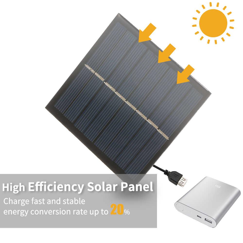 الذكية الشمسية بطارية Carger 1 W/4 V شاحن بالطاقة الشمسية ل 2*1.2 V AAA بطارية قابلة للشحن الكريستالات الايبوكسي لوحة طاقة شمسية 90*90 مللي متر