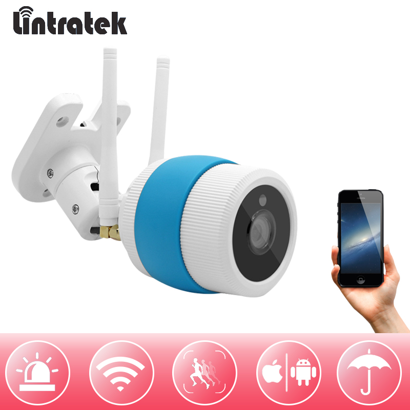 lintratek hd 720P 1 mp Bullet Camera Outdoor Wireless Wi-Fi CCTV Surveillance Waterproof Wifi Camera Home Security Camara IP Cam seven promise 720p bullet ip camera wifi 1 0mp motion detection outdoor waterproof mini white cctv surveillance security cctv