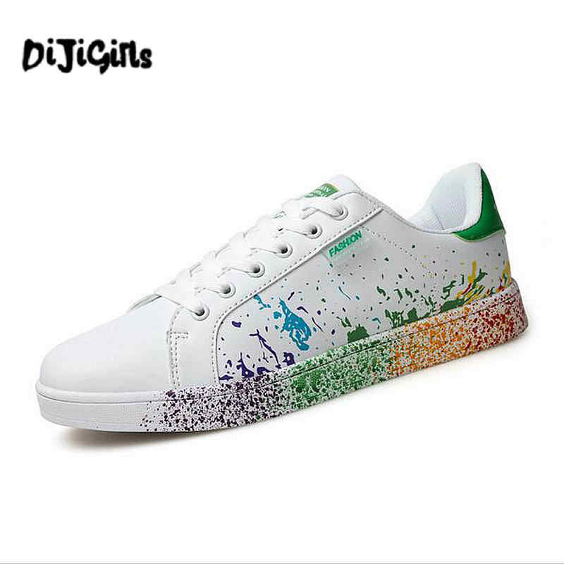 d35b82e06ab104 DIJIGIRLS new Spring Autumn Men Shoes Leather Printing Trending Style Men  Casual Shoes Lace Up Men