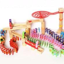 Для раннего обучения по системе Монтессори Развивающие детские игрушки дети Циклон строительство мраморный гоночный лабиринт шарики деревянные игрушки для детей