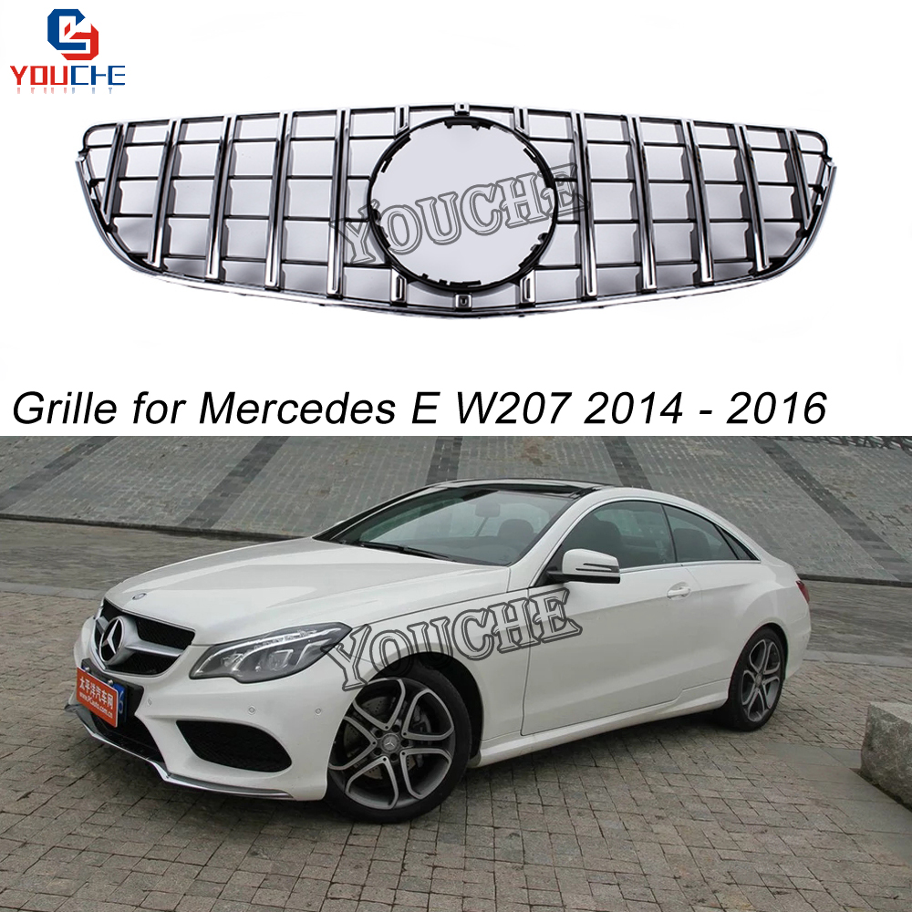 GT Look Grills Front Grille Mesh for Mercedes E Class W207 2 door Coupe Cabriolet 2014