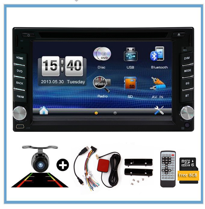 Car Electronic 2 Din DVD Multimedia Player Auto Radio GPS In Dash Car Touch Screen PC Stereo Video Free gps Map Free Camera RDS free rearview camera touch screen 2 din car cd dvd player gps navigation car stereo in dash auto radio supports bluetooth ipod