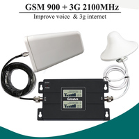 NEW LCD Display GSM 900 3G 2100 Mhz Dual Band Repeater GSM 3G UMTS Cell Phone