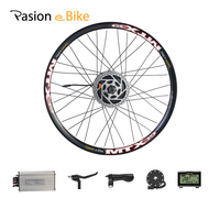 26'' e Bike Conversion Kit 36V 48V 500W Brushless Gear Hub Motor Wheel 7 Speed Electric Bike Rear Motor Kit 26inch