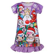 2019 new children's casual home service children's cute unicorn girls pajamas new year Christmas children's dress