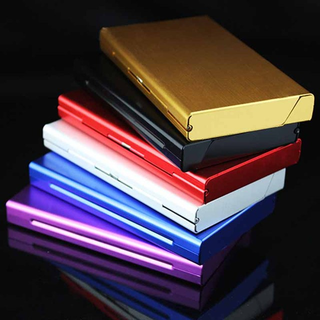 Aluminum Alloy Thin Cigarette Case Tobacco Holder Pocket Box for Cigarettes Storage Container Smoking  6 Colors