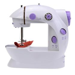 Mini Electric Handheld Sewing Machine Dual Speed Adjustment with Light Foot Double Threads Pendal Sewing Machine