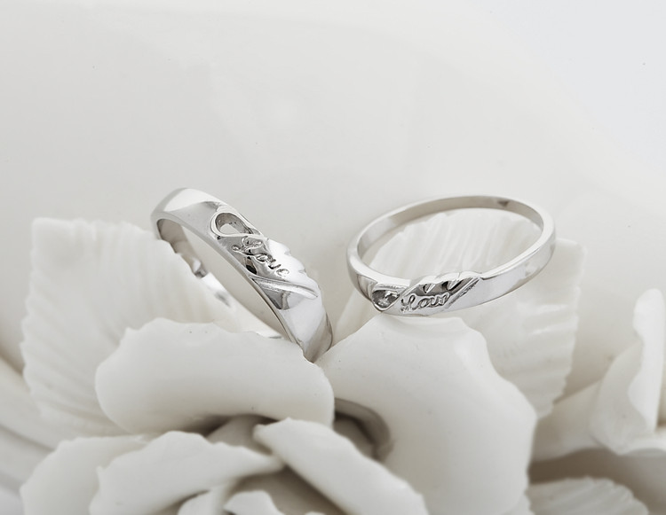 aliexpresscom buy special designer 2pcs wedding rings for men women charms love jewelry engagement silver marriage ring for lovers uloveido j206 from - Men And Women Wedding Rings