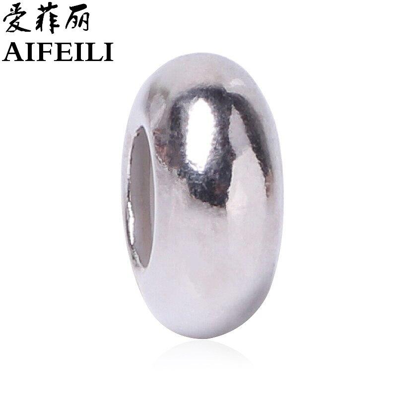 598c4bd0b8b51 Pozycjonowanie Trollbead AIFEILI Kolor Srebrny Mody Stałe Koraliki  Europejskie Charms Bead Fit Pandora Bransoletka Naszyjnik