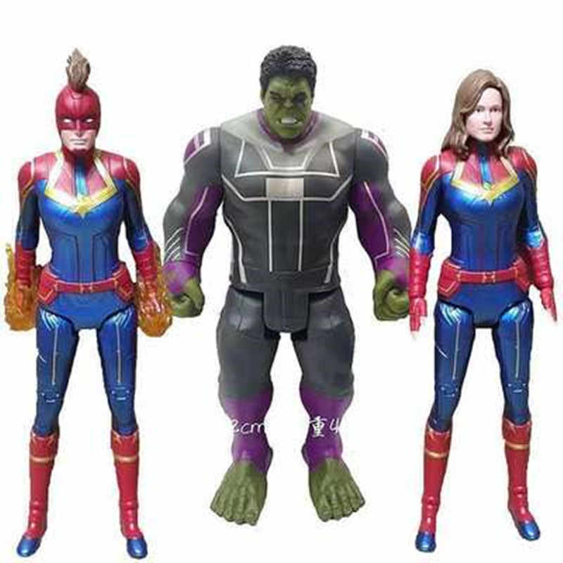 "2019 Movie Capitan Marvel Carol Danvers Action Figure Avengers Endgame 12 ""Titan Hero In America Ferro Spider Man MK50 Del Capretto giocattoli Bambola"