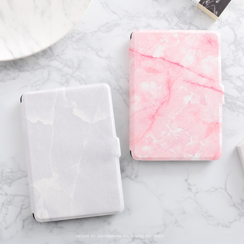 Pink Marble Grain Magnet PU Flip Cover for Amazon Kindle Paperwhite 1 2 3 449 558 Case 6 inch Ebook Tablet Case Leather Case upaitou flip case for amazon kindle paperwhite 1 2 3 cover for kindle 958 6th generation tablet case leather smart coque