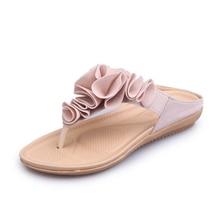 купить women slipper New summer Outdoor Flat bottom Flip flops ladies shoes Fashion Flowe rarder women sandal Beach Flat women slippers по цене 1418.92 рублей