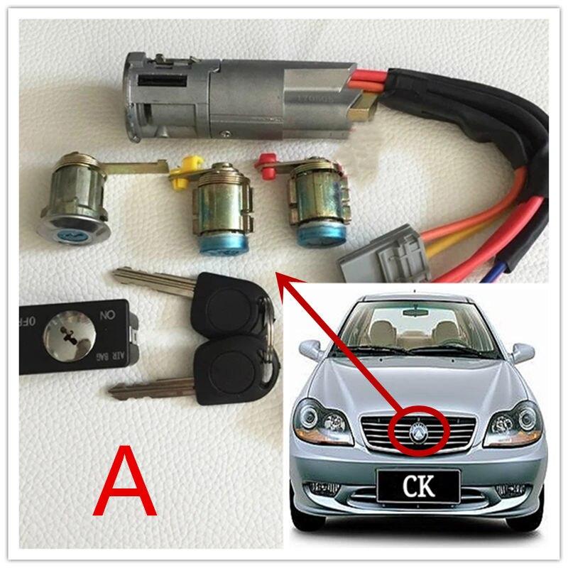 Véhicule entier de voiture, le verrou de contact, commutateur d'allumage, noyau de serrure de porte pour Geely CK1 CK2 CK3