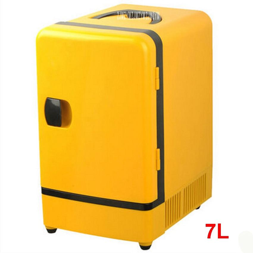 Double Use 12 V 7L Mini Fridge Portable Car Multi-Function Warmer Travel Home Camping Cooler Car Fridge 36-48W Refrigerators 12v mini car warmer and cooler fridge 6l portable device 48w