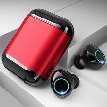 Auricular Bluetooth TWS auriculares inalámbricos auriculares Bluetooth estéreo auriculares Bluetooth auriculares con micrófono y caja de carga libre