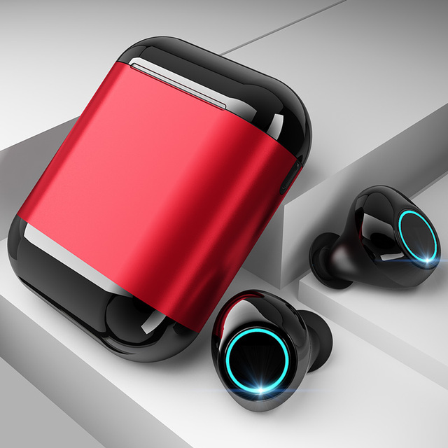 Bluetooth earphone TWS Earbuds Wireless Bluetooth Earphones Stereo Headset Bluetooth Earphone With Mic and Charging Box free