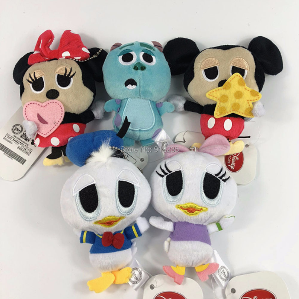 10cm 5 Styles Mickey Minnie Mouse Duck Plush Ornament Doll
