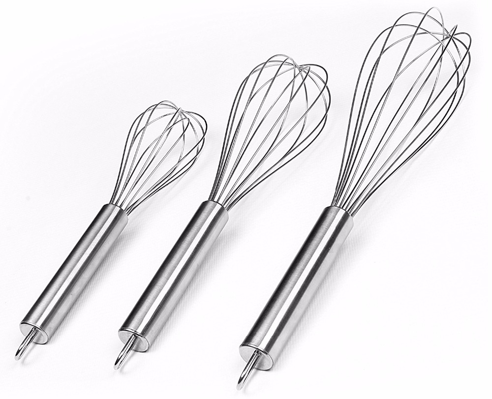 Stainless Steel Egg Beater Balloon Whisk Mælk Cream Butter Whisk Mixer Stiring Blender Tool Køkkenværktøj
