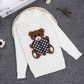 Nueva Primavera 2 3 4 6 8 10Y O-cuello de Punto chica jerseys para niños de La Manga Completa Pullover Suéter Boy Niños Ropa KC-1547-13