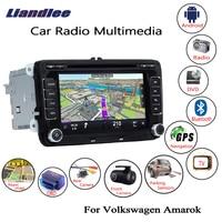 Liandlee For Volkswagen VW Amarok 2010~2018 Android Car Radio CD DVD Player GPS Navi Navigation Maps Camera OBD TV Screen