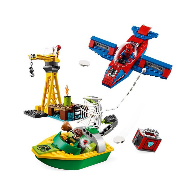 Bela 11185 Marvel Spider-Man: Doc Ock Diamond Heist Building Blocks Toys Bricks Gift Compatible With Legoings Super Hero 76134Bela 11185 Marvel Spider-Man: Doc Ock Diamond Heist Building Blocks Toys Bricks Gift Compatible With Legoings Super Hero 76134