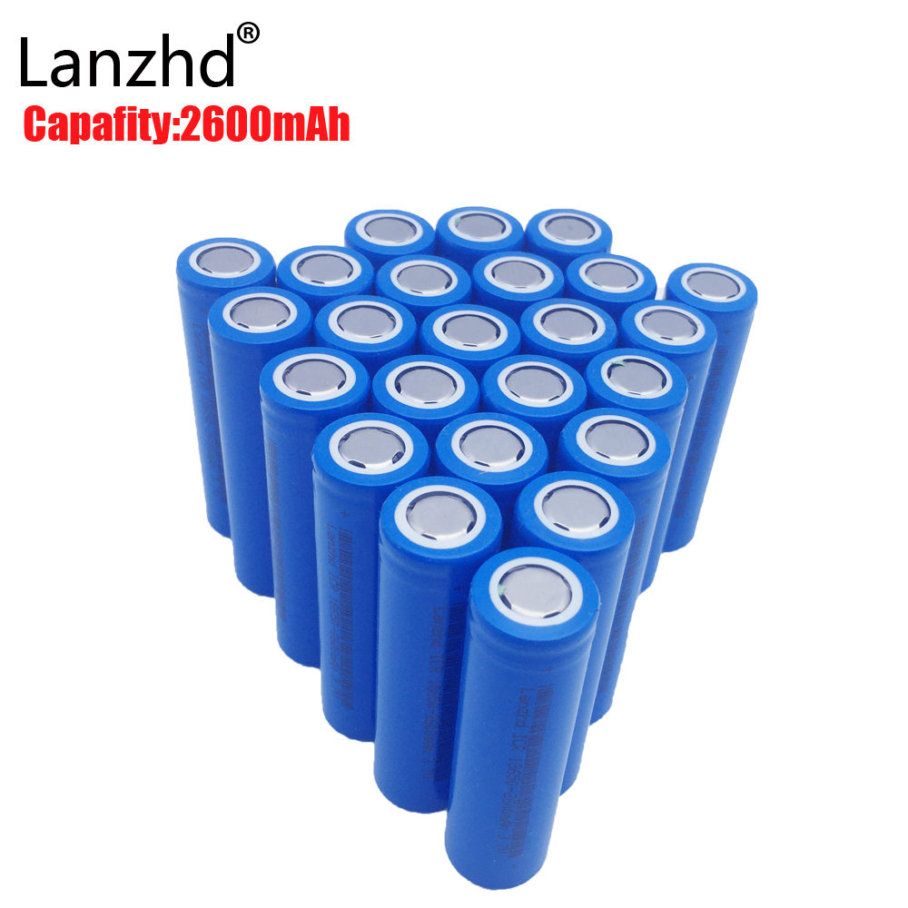 40pcs 18650 battery 3.7V Rechargeable Batteries li-ion 2600mAh ICR18650 lithium ICR 26F batteries for Led Flashlight Newest delipow lithium iron phosphate battery charger charger for 1450010440 3 7v 18650 rechargeable li ion cell