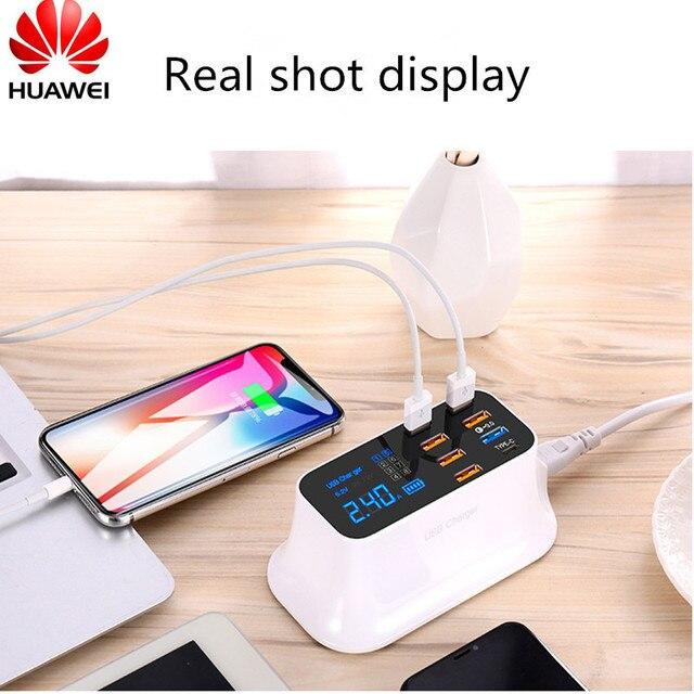 טעינה מהירה 3.0 חכם USB סוג C מטען תחנת Led תצוגת מהיר טעינת טלפון Tablet USB מטען עבור iPhone Samsung מתאם
