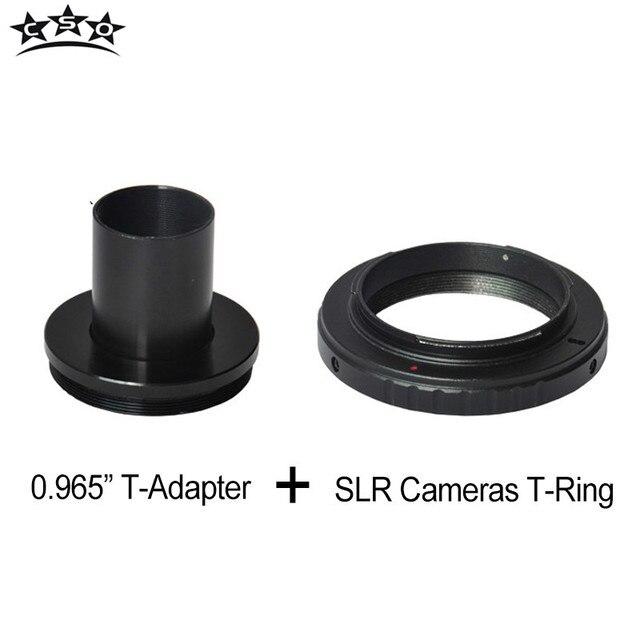 """CSO T-ring và M42 Để 0.965 """"Kính Thiên Văn Adapter Kim Loại T-mount cho Canon Nikon Sony Pentax olympus Panasonic SLR/DSLR Máy Ảnh Ống Kính"""