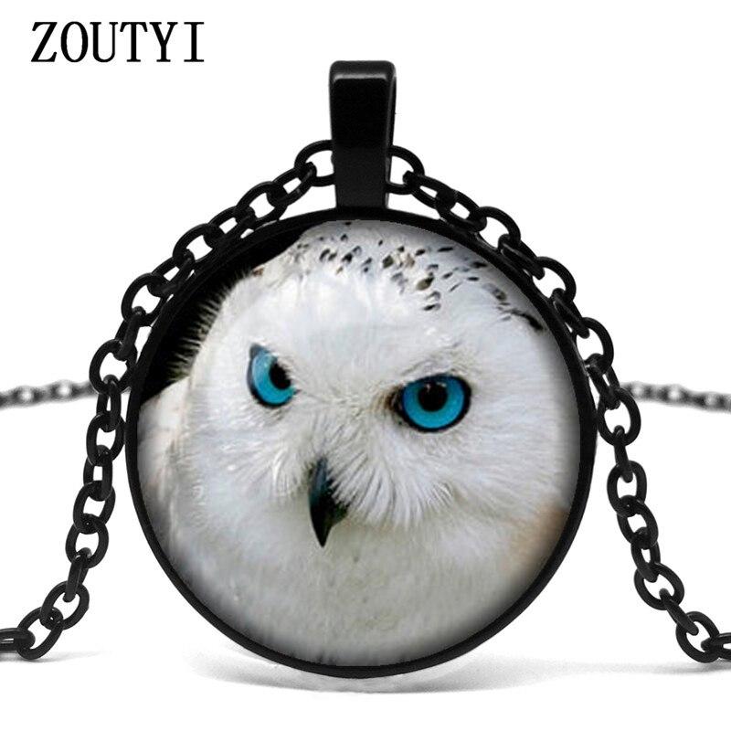 2018/hot Owl Halskette Weiß Eule Mode Glas Halskette Mann Frau Tragen Halskette Schmuck. Dinge FüR Die Menschen Bequem Machen