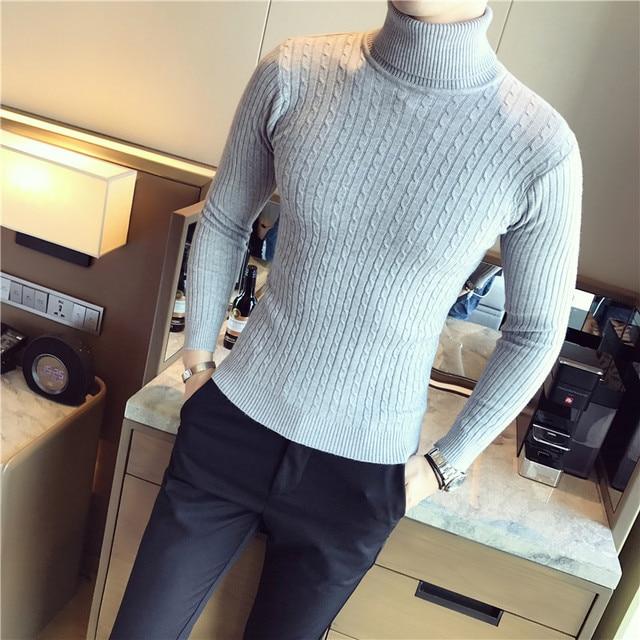 5 Colors Men Turtleneck Sweater  2