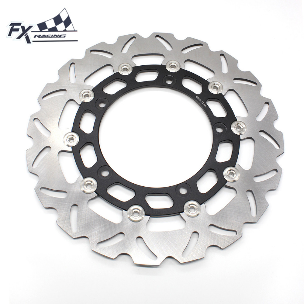 FX Aluminum+Stainless Steel Motorcycle 300mm Floating Front Brake Disc Rotor For Yamaha YZF R15 2015 Moto Accessories fxcnc motorcycle brake disc 300mm floating front brake disc rotor for yamaha yzf r15 2015 motorbike front brake disc rotor