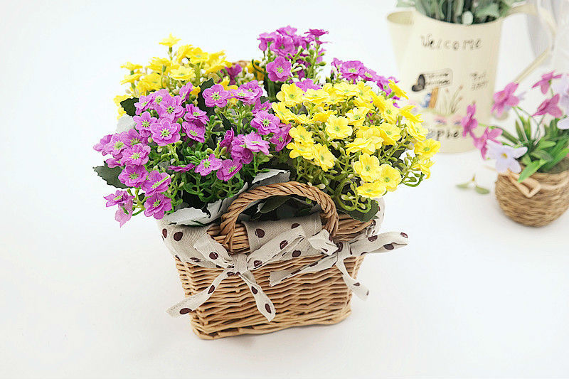 Rattan square basket artificial flower overall floral silk flower handmade lavender - Wedding Depository - HTB1gnahGFXXXXb6aXXXq6xXFXXXo