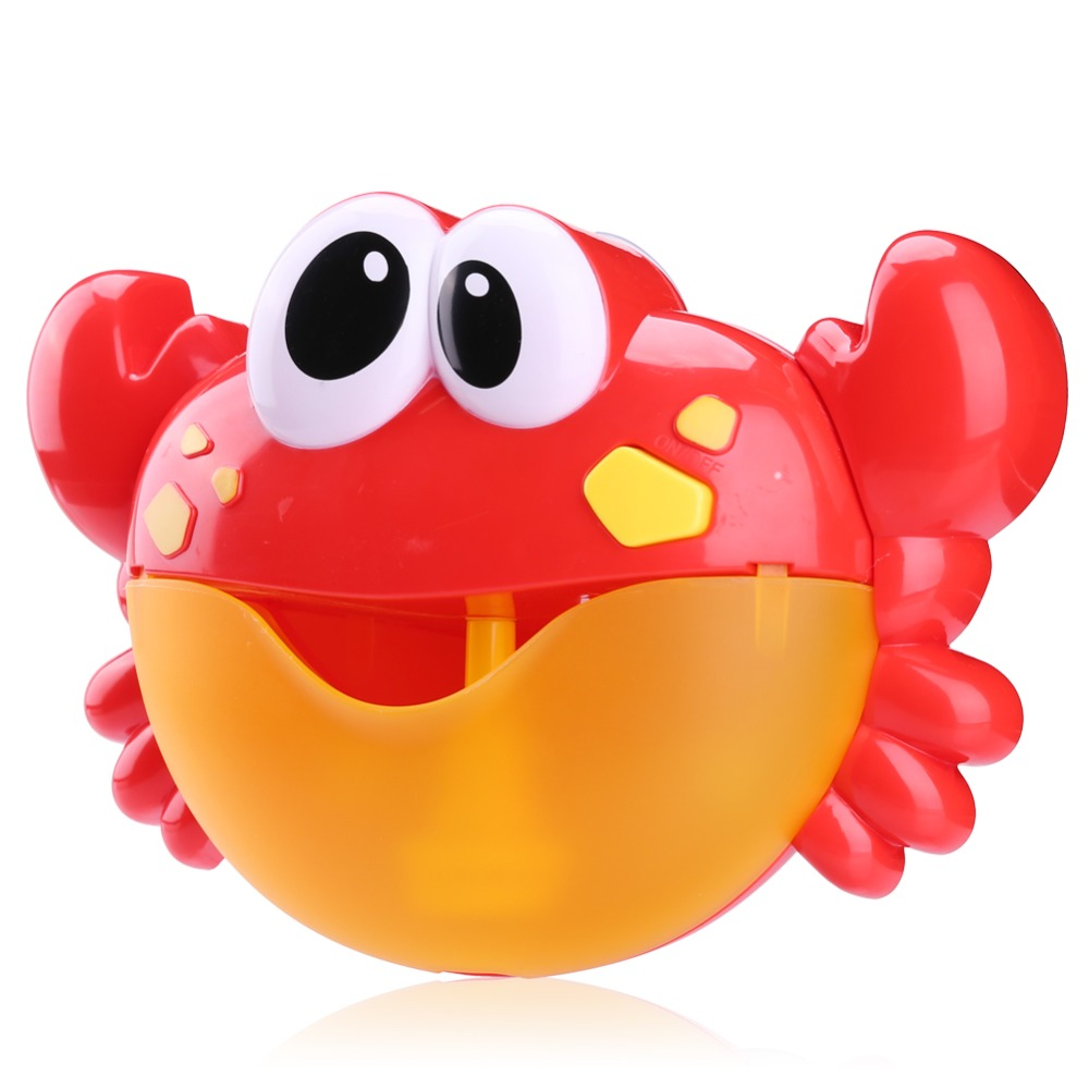 Funny Music Crab Bubble Blower Machine Electric Automatic Crab Bubble Maker Kids