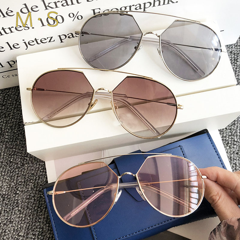 MS 2018 New Fashion Sunglasses Women Luxury Brand Designer Vintage Sun glasses Female Pilot sunglass For Women Eyewear
