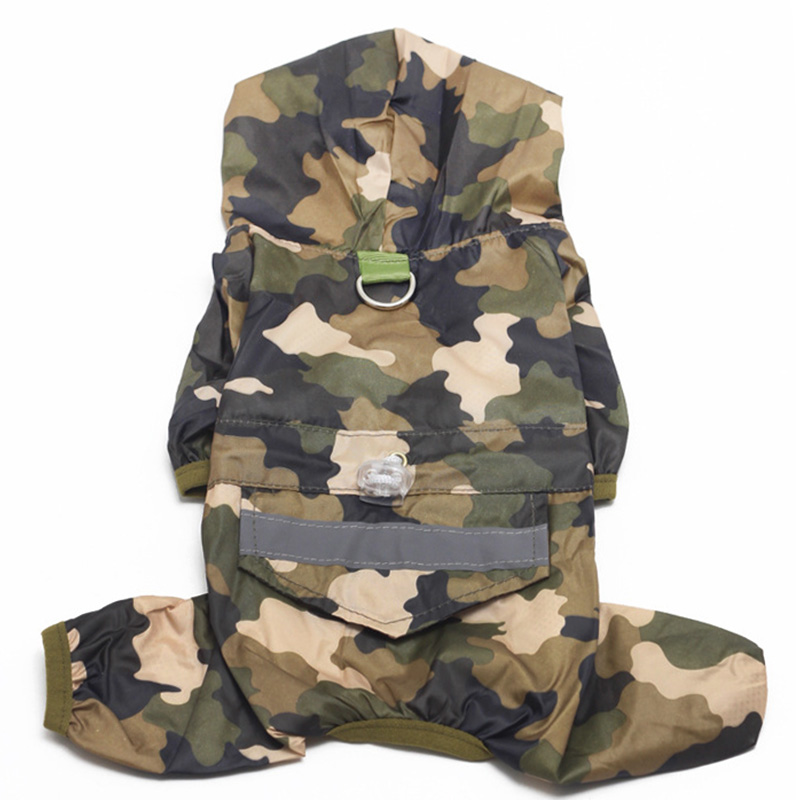 Camouflage Dog Clothes Soft Puppy Clothing Jumpsuits All Season Dog Rain Coat Jacket for Small