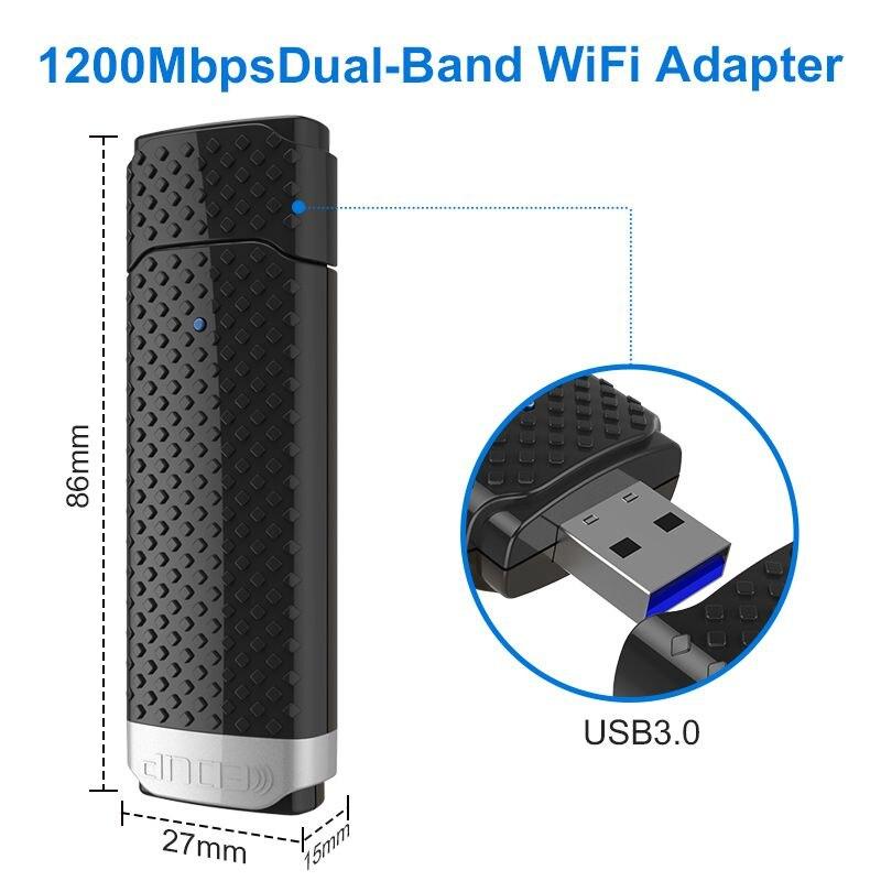 EDUP 5ghz usb wireless wi-fi adapter high speed 1200mbps usb 3.0 ethernet adapter wifi receiver Windows Mac for notebook deskt