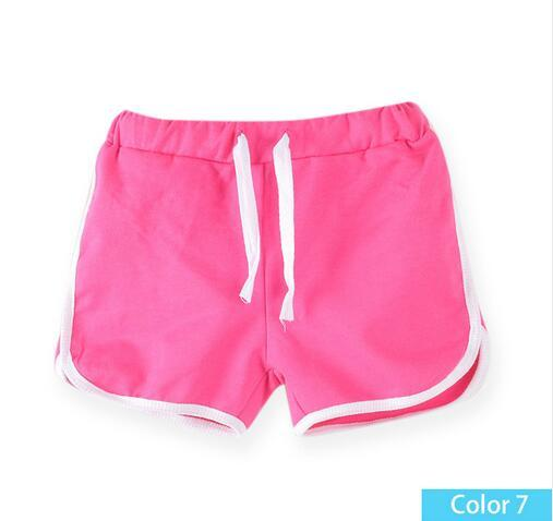 Red, 3T Anxinke Little Girls Candy Color Athletic Pants Summer Beach Shorts