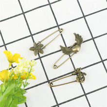 1pc safety pins vintage fashion pin brooch starfish shape ornaments for sweather coat(China)