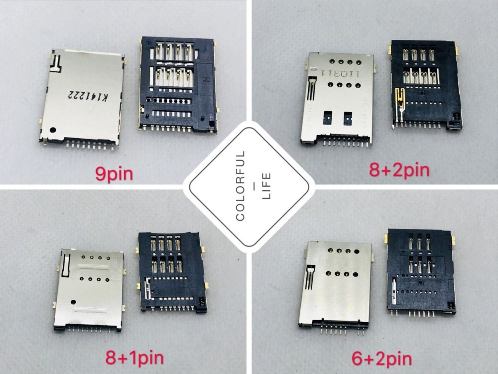 Big Card 8/9/10PIN PC Computer Panel Tablet Laptop SIM Socket Slot Tray Connector Adapter Motherboard Repair Accessory Holder