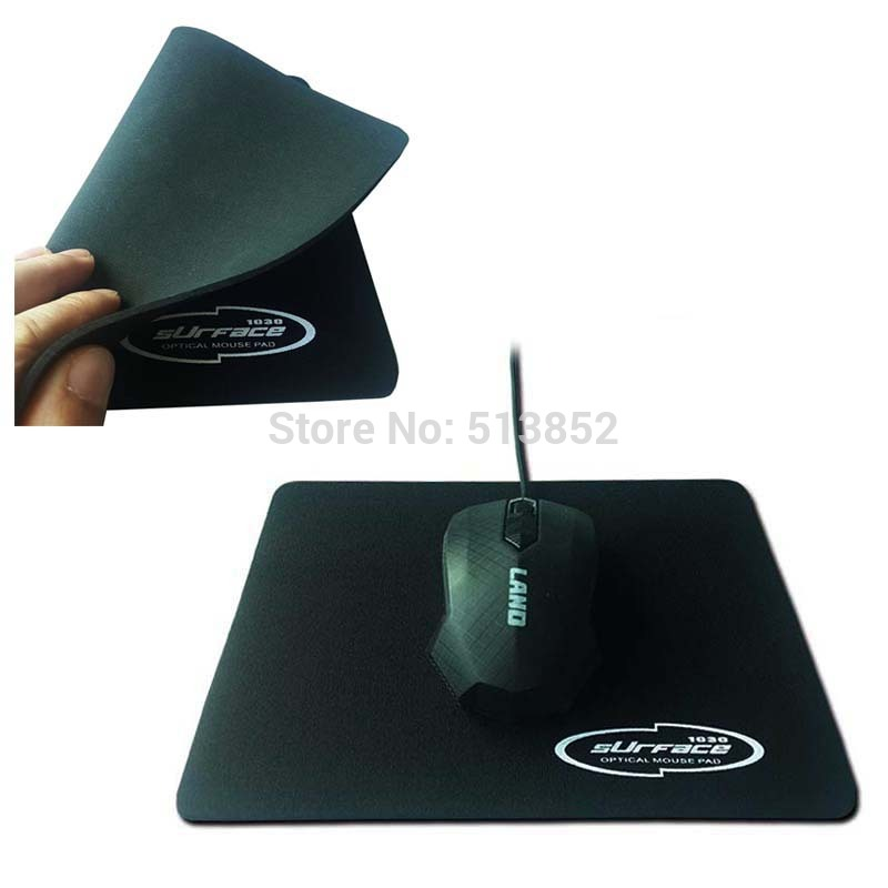 Mouse Pad PC Notebook Descktop Computer Classic 2.5mm Thickness Natural Rubber Cloth Home Office Game 18*22cm Black Color