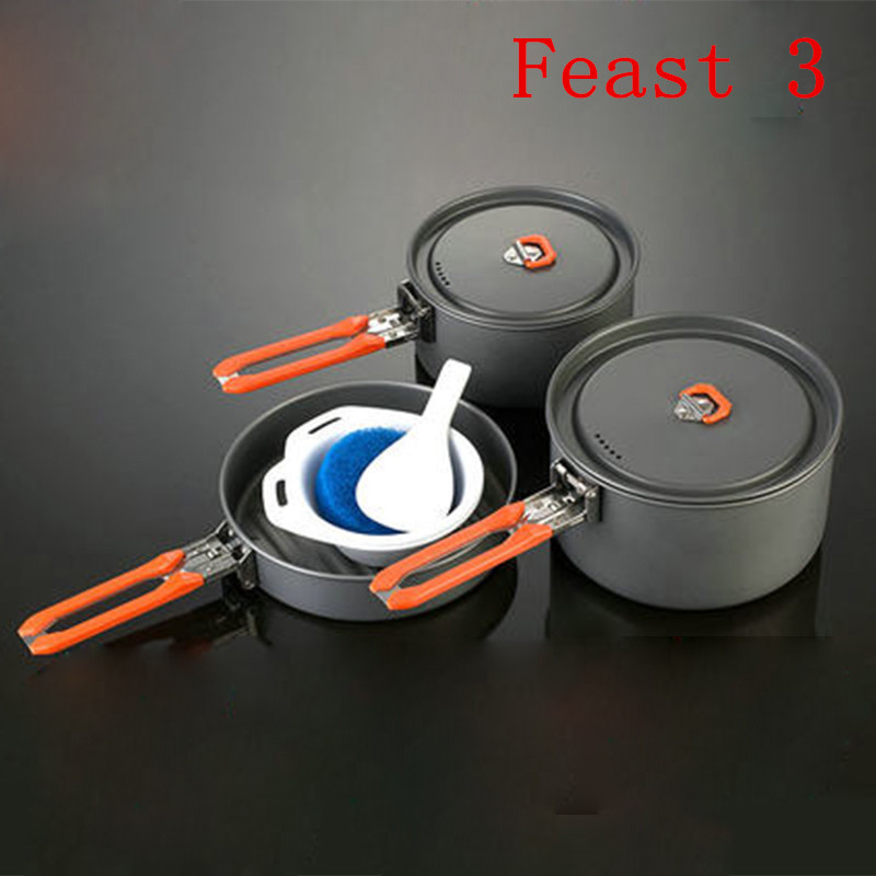 Fire Maple Kettle Sets Outdoor Camping Cookware Backpacking Cooking Picnic Camping Pot Pan Bowl Set Feast