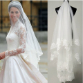 White/Ivory Veils 1.5m wedding veils bridal accesories lace Edge veil bridal veils
