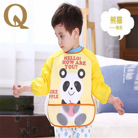 2017 Baoma essential waterproof anti clothing baby bib apron to eat children eat overclothes prevent long sleeved clothes